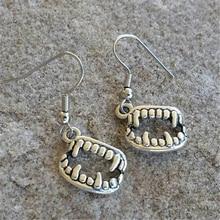 Vampire Teeth Charm Earrings Halloween Accessories, Scary Bracelet Charms, Creepy Holiday Gift Ideas