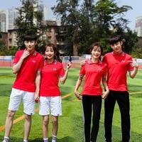[Ten for] Primary School STUDENT'S School Uniform Summer Wear New Style Short Sleeve T shirt Suit Casual Business Attire Sportsw