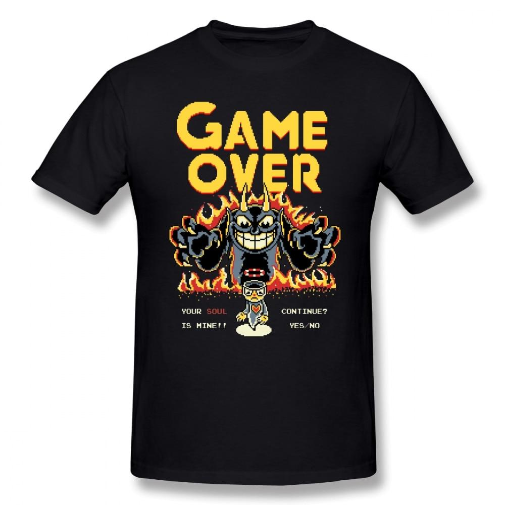 Cuphead T Shirt Your Soul Is Mine T-Shirt Beach Tee Shirt Funny Printed 100% Cotton Male Short Sleeves Tshirt
