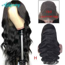 13X4 Lace Front Human Hair Wigs 180% Density Body Wave Lace Front Wig Brazilian Remy Human Hair Wigs Ashimary(China)