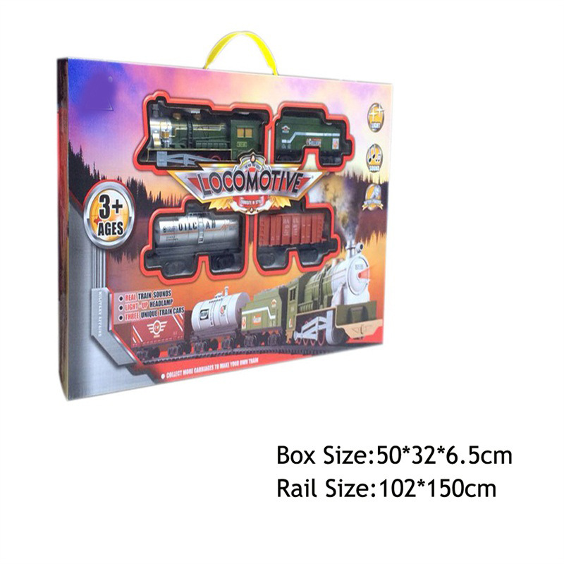 Educational Electric Flexible Rail Car Small Train Children Gift Toy Assembled Rail Car With Oil Jar Ore Car