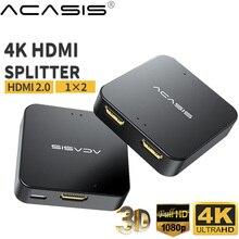 جهاز تقسيم 1 في 2 من HDMI متوافق مع محول محول يدعم ثلاثية الأبعاد 4K @ 30HZ كامل HD1080P لأجهزة Xbox PS4 PS3 شاشة العرض