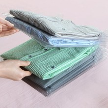 1/10/20pc Creative Fast Clothes Fold Board Clothing Organization System Transparent File Closet Organizer And Shirt Folder Adult