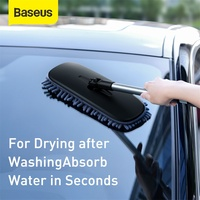 Baseus Microfiber Floor Mop Car Wash Brush Hand-free Vehicle Washing Cleaning Brushes Soft Flat Mop Household Cleaning Tools