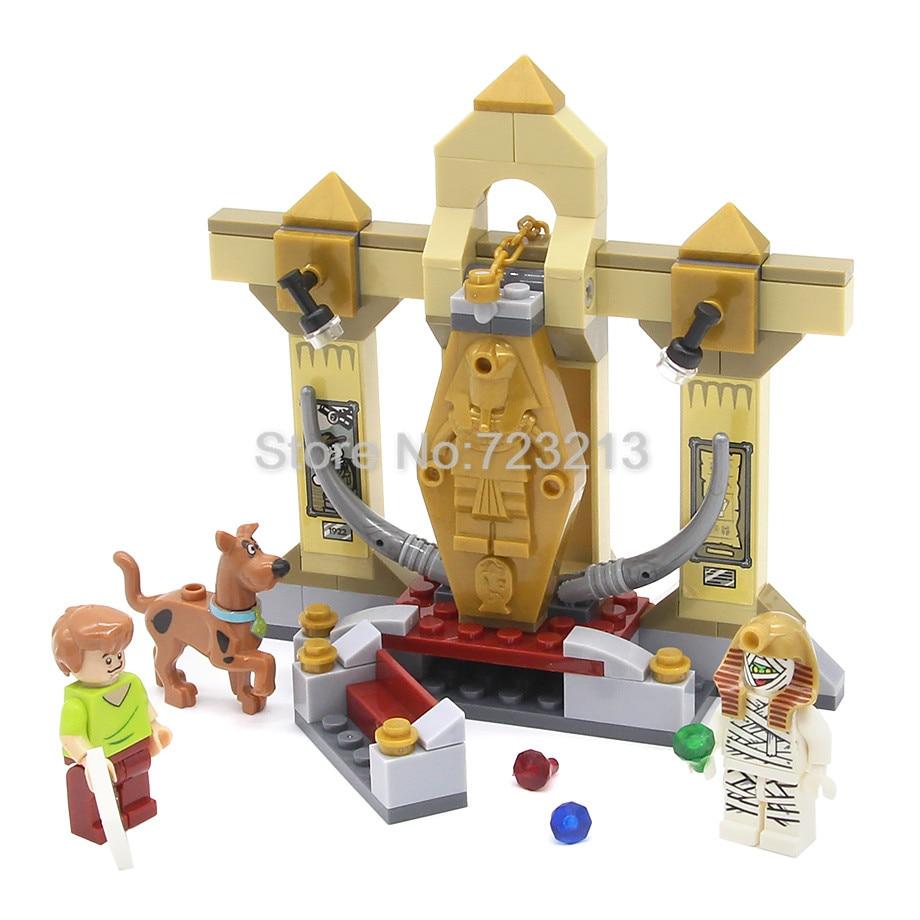 Scooby Doo 109pcs Bricks Cartoon Pharaoh Fred Egypt Mummy Figure Halloween Shaggy Building Blocks Sets Models Toys For Children