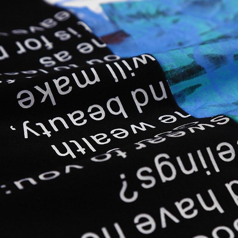 Лоскутная Толстовка мужская с капюшоном пуловер с длинным рукавом Толстовка с принтом и Круглым Вырезом Стильная поддельная две моды уличн... - 5