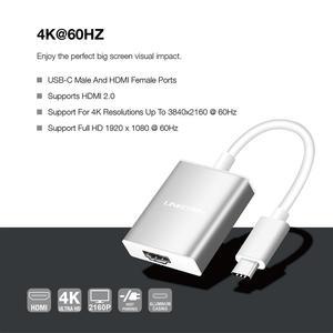 Image 3 - لينكوم USB C محور نوع C إلى محول HDMI 4K الترا HD 2016P 60Hz