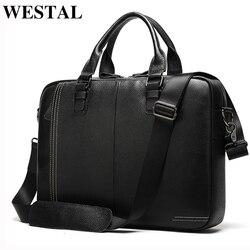 WESTAL, мужской портфель, сумка, мужская, натуральная кожа, сумка для ноутбука, для мужчин, porte, для документов, Офисные Сумки для мужчин, деловые ...