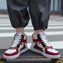 Hàng Mới Về Cao TOP Sneakers Nam Thường Thoáng Khí Thời Trang Nhiều Màu Sắc Ban Giày Mùa Xuân Một Mùa Đông Da Thoáng Mát Giày thủy Triều