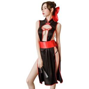 Image 5 - Japanische frauen Dessous Set Kimono Uniform Versuchung Verband Phantasie Cosplay Anime Cosplay Kostüme Unterwäsche Maid Kleid