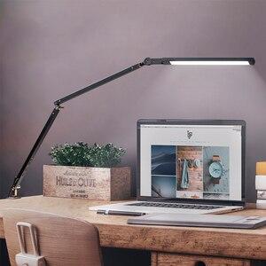 Image 4 - Artpad 8W kelepçe uzun kol masa lambası 3 parlaklık karartma katlanır ayarlanabilir LED Modern masa lambası ofis için iş okuma