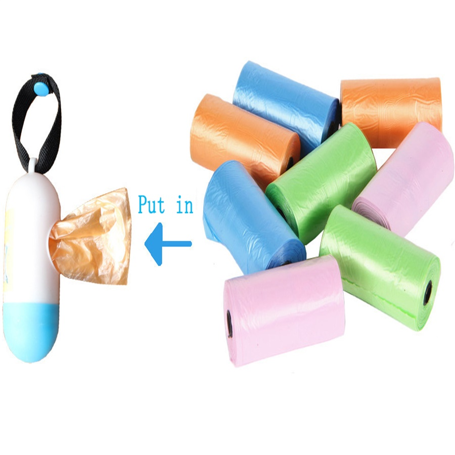 15pcs/roll Baby Diaper Bag Portable Disposable Baby Pet Garbage Rubbish Bags Multipurpose Cloth Storage Bag