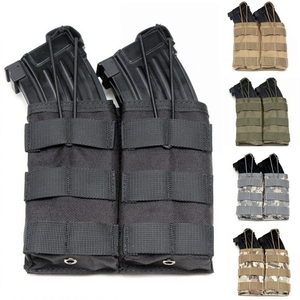 Molle System Double Open Top M4 Magazine Pouch Airsoft Tactical AK AR M4 AR15 Rifle Pistol Single Triple Magazine Pouch(China)