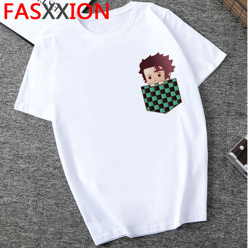 Hf0cd57e548b541ca94a607a5df026d46f - Demon Slayer T-shirt  Graphic Tees Men Streetwear  Japanese Anime Cool Tshirt Funny Cartoon Kimetsu No Yaiba T Shirt Male