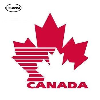 HotMeiNi 13cm x 12.7cm For Canada Ice Hockey Team Sports Fan Logo Vinyl Sticker Decal Car Window Bumper Decor Car Stickers hotmeini 13cm x 13cm car stickers pink peace symbol vinyl sticker helmet bumper caravan laptop car styling waterproof decal