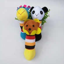 Pet vocalization molar tooth resistant plush cat and dog toy supplies rainbow giraffe panda lion,Q18(China)