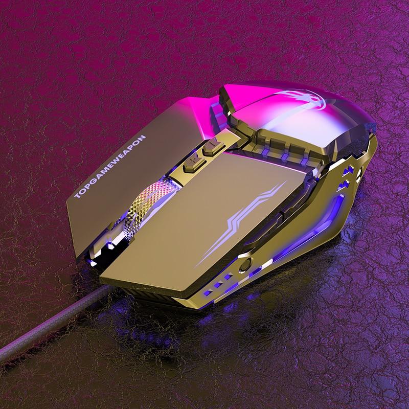 Niye Проводная игровая клавиатура Мышь геймера 7 Кнопка точек на дюйм светодиодный 4200 Точек на дюйм USB компьютера Мышь геймерская мышь, бесшум...