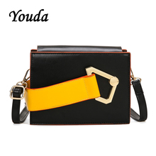Youda Spring New Fashion Simple Sweet Womens Packet Classic Original Retro Shoulder Bag Leisure Solid Color Crossbody Tote