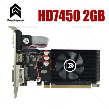 Graphics card pci express HD7450 2GB DDR3 64bit LP placa de video card PC for ATI 1