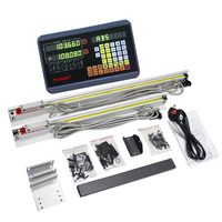 2 Axis DRO Digital Readout + Optional 2pcs 50 1000mm Linear Scale / Linear encoder / Linear ruler for CNC Milling lathe machine