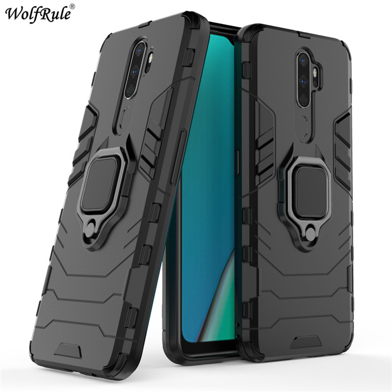 For <font><b>OPPO</b></font> <font><b>A5</b></font> 2020 <font><b>Case</b></font> <font><b>OPPO</b></font> A9 2020 Bumper Ring Holder Armor Hard Back Cover For <font><b>OPPO</b></font> A9 2020 <font><b>Phone</b></font> <font><b>Case</b></font> For <font><b>OPPO</b></font> A11X 6.5'' image