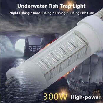 300W Deep Drop Fishing Light Underwater 5M LED Submersible Fishing Light Fish Lure Bait Finder Lamp Squid Attracting 12V Green 12v underwater submersible night fishing light shad bait lure squid boat lamp 108 led light bulb w 5m ip67 waterproof lamp