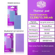 Cooler Master Diamond Cooling Silicone Thermal Pad 15.3W/MK Solid State Drive Water Cooling Cooling Pad Suitable for CPU/GPU SSD