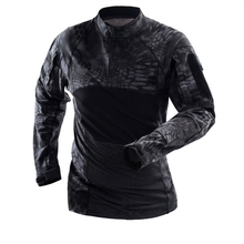 Military Mens Camouflage Tactical T Shirt Long Sleeve Brand Cotton Breathable Combat Frog Tshirt Men Training Shirts uniform