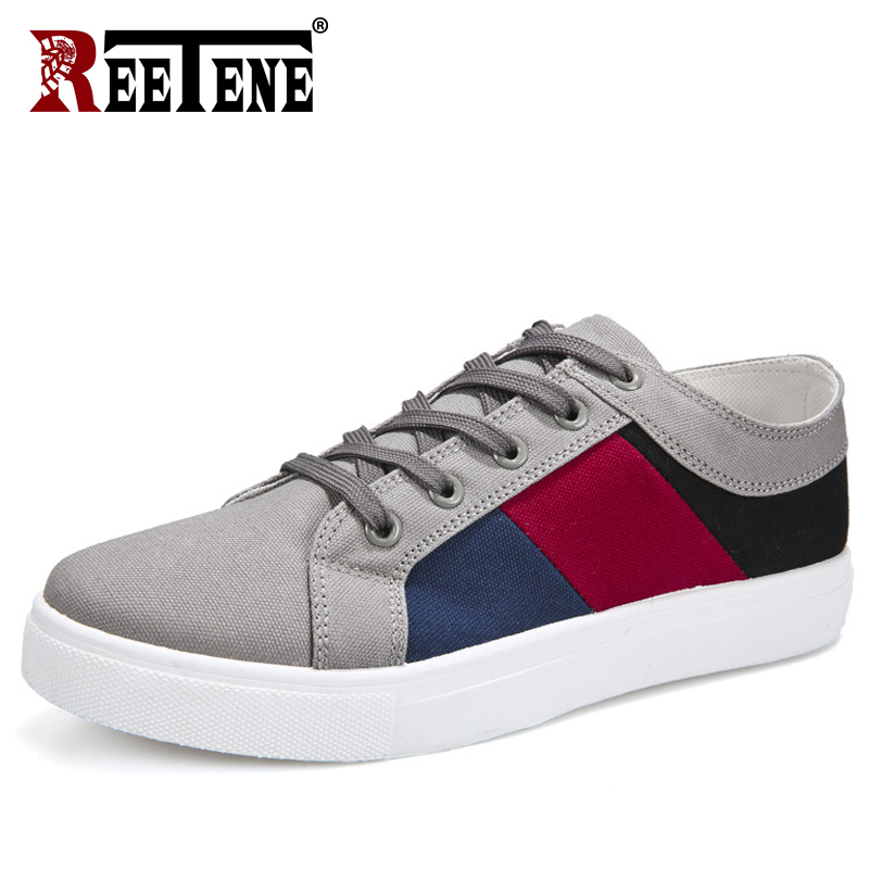Image 5 - REETENE 2019 New Cheapest Casual Shoes Men Autumn Spring Casual Shoes Mens Canvas Shoes For Men Lace Up Flat Loafers ShoesMens Casual Shoes   -
