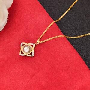Image 3 - 18K Vàng Nguyên Chất Mặt Dây Chuyền Thật Âu 750 Vàng Nguyên Khối Quyến Rũ Nhiều Màu Hoa Cao Cấp Hợp Thời Trang Cổ Điển Đảng Mỹ Trang Sức Nóng bán Mới 2020