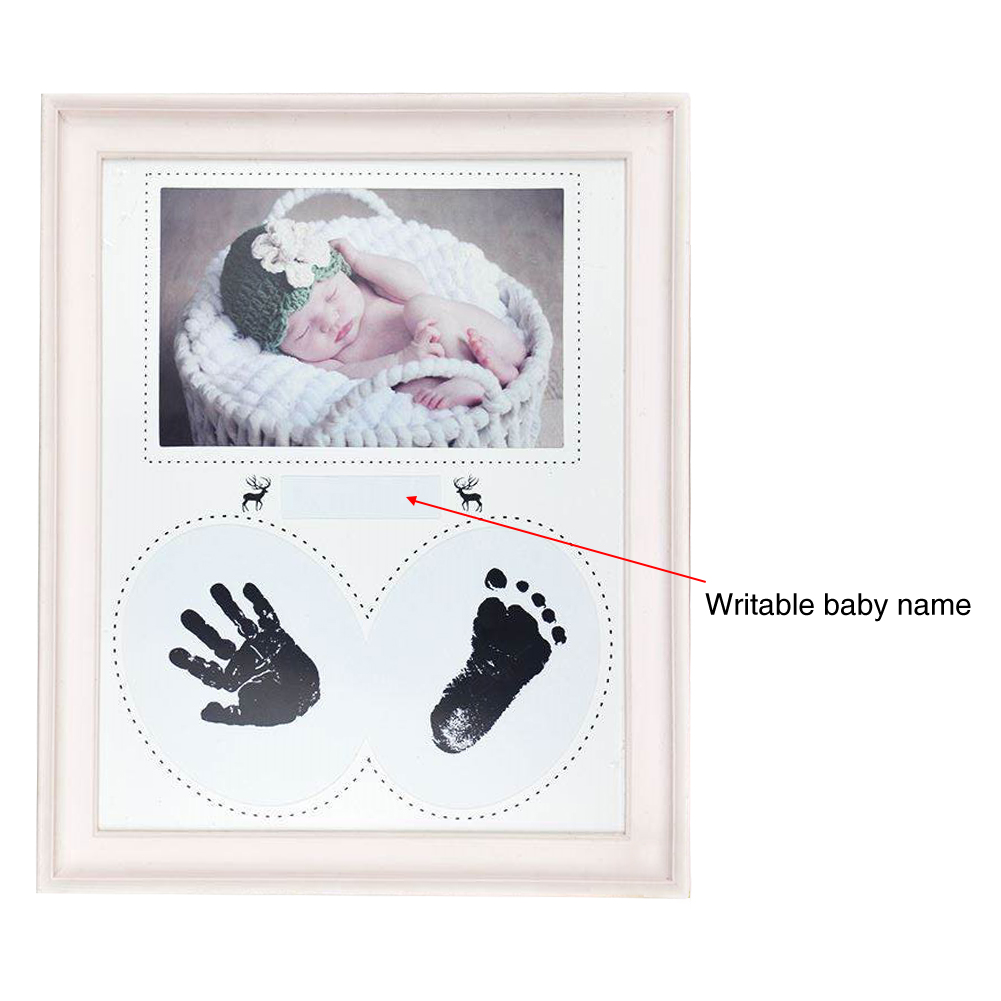 Gift Wall Ink Pad Kid Bedroom Birthday Footprint Handprint Newborn Baby Home Decor Pictures PVC Hanging Photo Frame