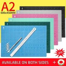 1 шт. A2 разделочная доска линии сетки самовосстановления разделочная доска Большой многоцветный двухстороннее настольное ручной гравировк...