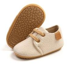 Kidsun sapatos de bebê recém-nascido moda simplicidade casual infantil meninos sapatos de couro anti-deslizamento falt sola de borracha da criança primeiros caminhantes