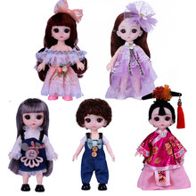 New Bjd Doll 1/12 16cm 13 Movable Joint Mini Princess Doll Clothes Shoes Baby Dress Up Fashion Dolls Toys for Girls Boy DIY Gift(China)