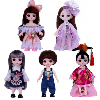 New Bjd Doll 1/12 16cm 13 Movable Joint Mini Princess Doll Clothes Shoes Baby Dress Up Fashion Dolls Toys for Girls Boy DIY Gift fashion sd bjd doll girls doll with clothes blue eyes 18 inch cute princess doll toys for children s new year gift