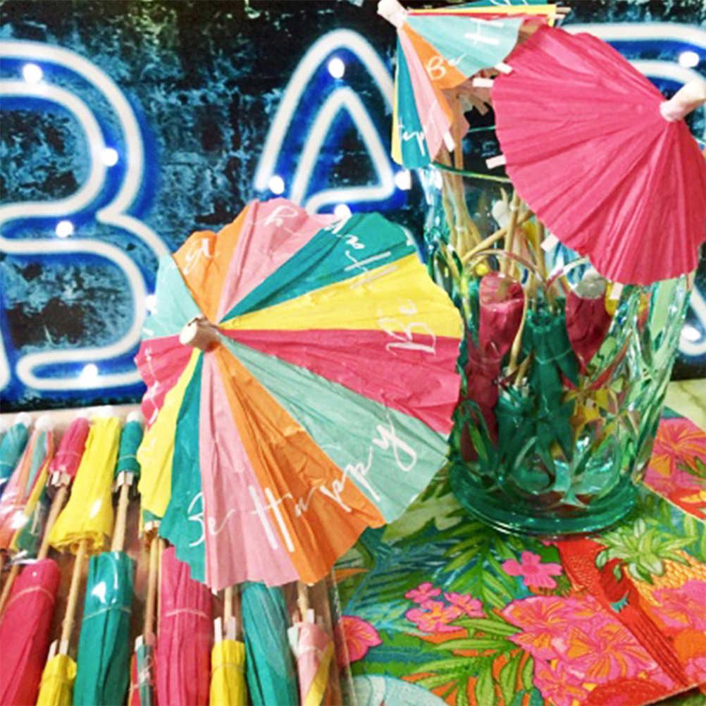 20 قطعة الكرتون صغيرة مظلة الزخرفية العملي الخبز يختار كعكة القبعات العالية ل منزل عيد حزب مهرجان