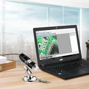 Image 4 - 40X 1000X 拡大鏡 8 LED 顕微鏡デジタルミニカメラハンドヘルド USB ビデオ内視鏡マイクロカム学校 Numerique Electronique