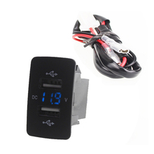 12V 24V Dual USB Car Charger Port Auto Adapter LED Voltmeter Socket For Honda CIVIC CROSSTOUR CRV ODYSSEY