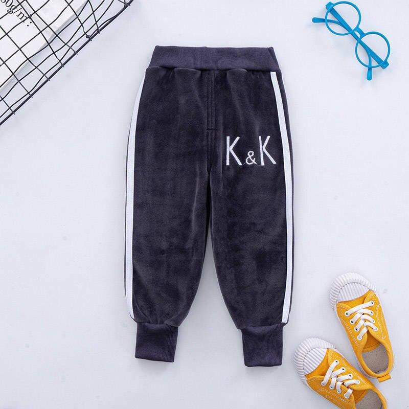VFOCHI Boy Girls Pencil Pants Autumn Velvet Pants Stretch Waist Kids Pants Warm Children Trousers Baby Girls Boy Sports Pants 4