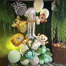 48 шт/компл Джунгли животных вечерние воздушные шары из фольги