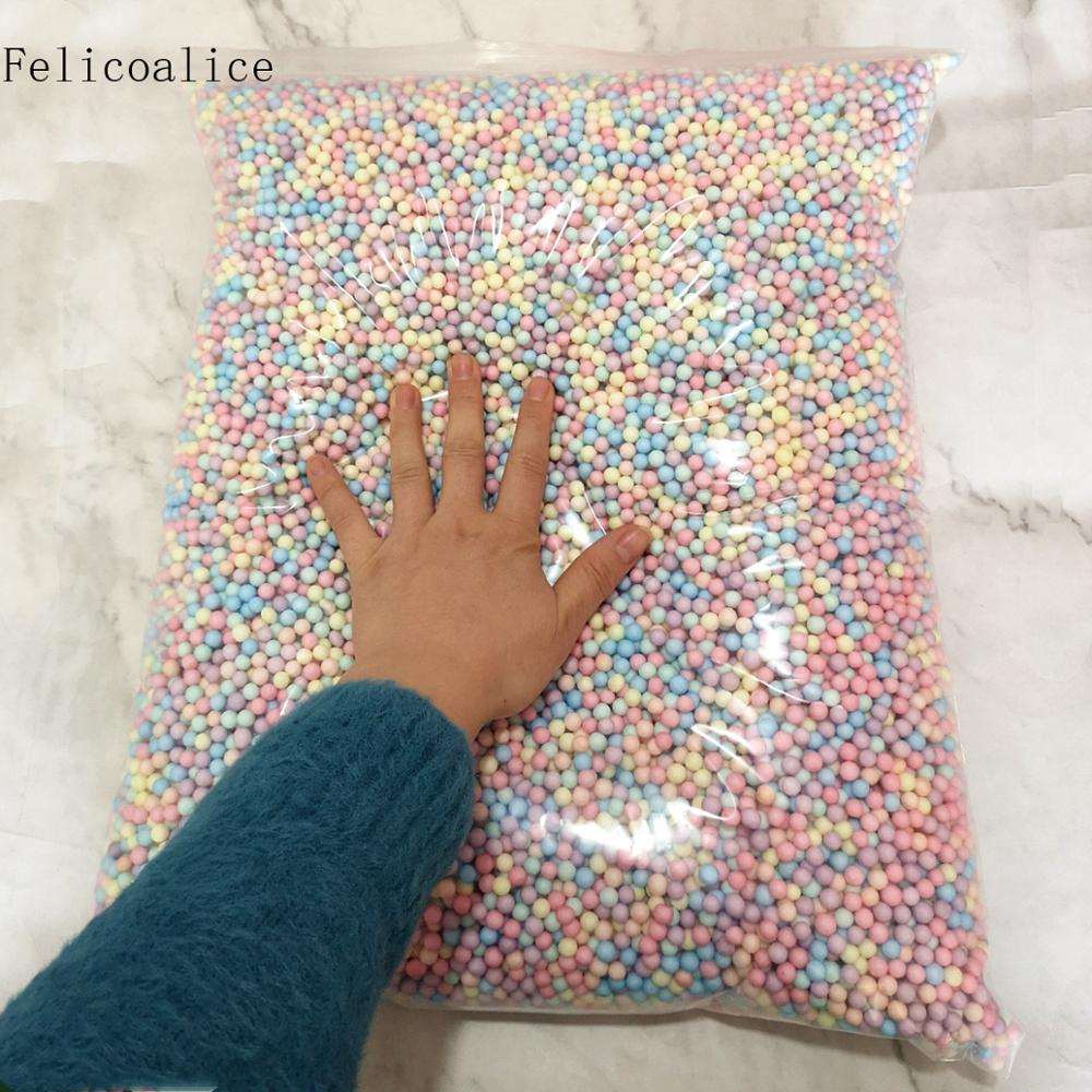 250g 6-8mm  Mini Colors Polystyrene Styrofoam Filler Balls Decorate Crystal Bottle DIY Snow Mud Particles Accessories