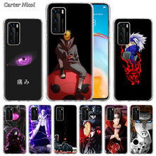 Cool Japan Anime Naruto Eyes Silicone Case for Huawei P40 Pro+ P20 P30 Lite P20 Pro p10 p20 p30 P40 Lite P Smart Pro 2019 Cover silicone cases for huawei p40 pro armor case for huawei p40 p30 p20 p10 for p30 p20 10 lite p30 pro p20 p10 plus hard sell cases