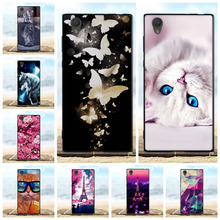 For Sony Xperia L1 Case Soft Silicone TPU Black Shell 3D Cute Cat Bags For Coque Sony Xperia L1 G3311 G3312 G3313 Phone Cases