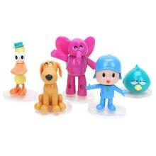 5 sztuk/zestaw Pocoyo zabawki Pocoyo ELLY PATO Loula śpiący ptak pcv Action Figures słoń kaczka lalka Model Toy zaopatrzenie firm