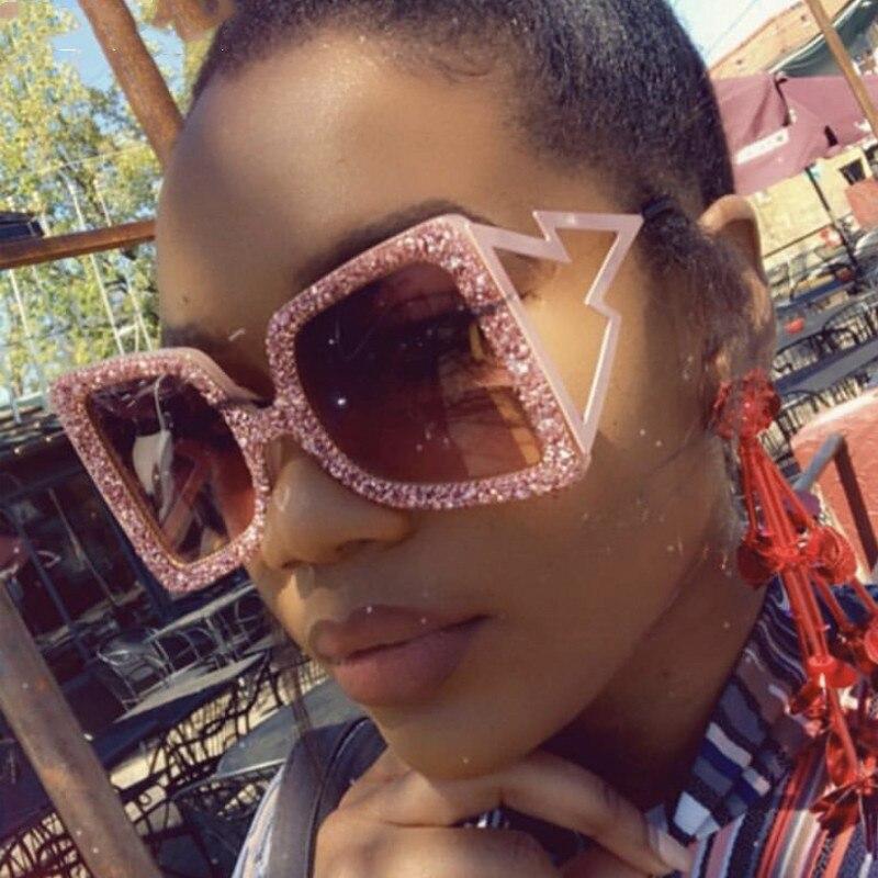 De diamantes de imitación de gafas de sol de las mujeres 2020 Steampunk de gafas de sol Plaza Punk gafas de hecho a mano gafas de sol hombres Siskakia-vestido informal de talla grande, veraniego 2020, para mujer, cuello redondo, volantes, manga corta, Midi, vestidos de remiendos verde con dobladillo