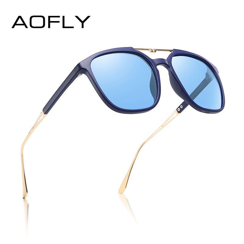 AOFLY Luxury Brand Design Polarized Sunglasses Women Fashion Oversized Square Frame Mirror Sun Glasses Female Oculos Ladies