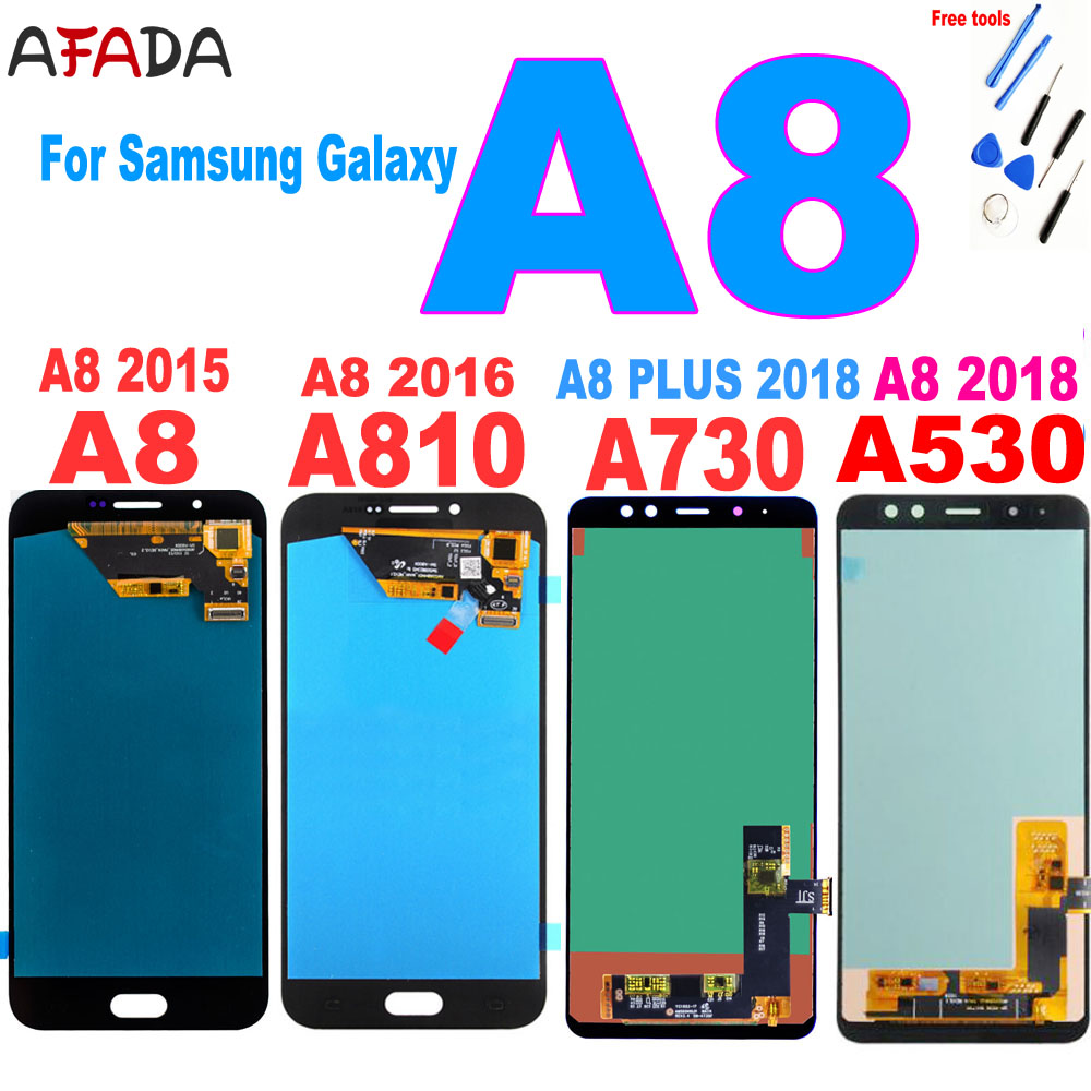 AAA+ For Samsung A8 2015 2016 A800 <font><b>lcd</b></font> display <font><b>A8000</b></font> <font><b>LCD</b></font> A8100 A810 Display A8 Plus A8+ 2018 A730 <font><b>LCD</b></font> Touch A530 A530F Screen image
