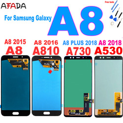 AAA+ For Samsung A8 2015 2016 A800 lcd display A8000 LCD A8100 A810 Display A8 Plus A8+ 2018 A730 LCD Touch A530 A530F Screen
