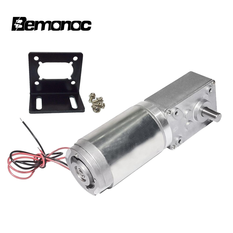12V High Torque Electric Power Speed Reduce Turbine Worm Geared Motor 80rpm