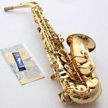 Музыкальный Fancier, клубный саксофон, альт-Конн, Профессиональный альт-саксофон, саксофон, золотой лак, чехол с мундштуком, тростник для шеи